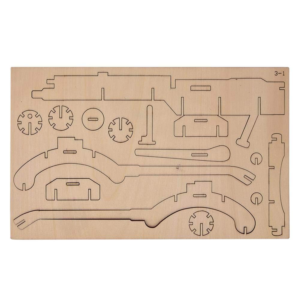 DIY Puzzle Toy Set, 3D Wooden Jigsaw Puzzle Toy Building