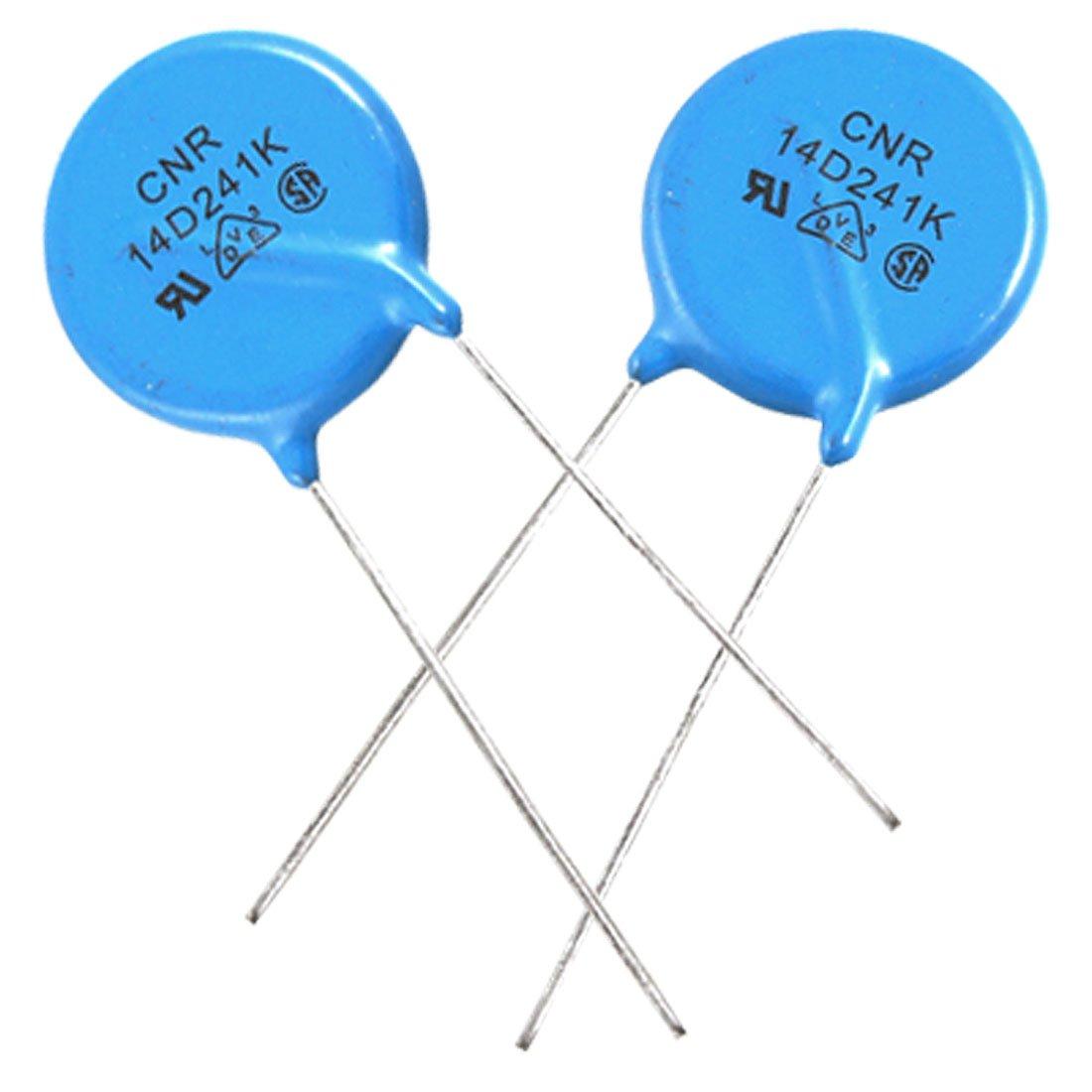 Aexit 10 x Fixed Resistors Radial Lead Disc Voltage Dependent Resistors Varistors AC Single Resistors 150V 14D241K