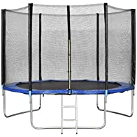 Trampolines Combo Bounce Jump Safety Enclosure Net WIth Spring Pad Ladder
