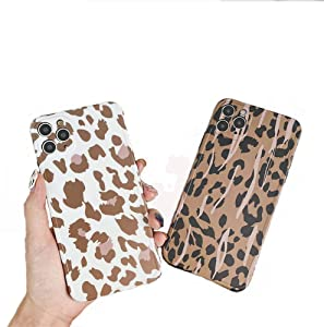 for iPhone 11 Pro Leopard Case, Leopard Print Pattern Case Soft TPU Silicone Shockproof Cover for iPhone 11 Pro 5.8 inch, 2 Pcs