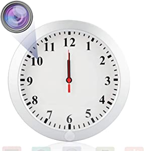 HSKAH WiFi Camera Wall Clock Camera HD 1080P Hidden Spy Camera Wireless Nanny Camera Indoor Video Recorder Home Monitoring Security Cam with Motion Detection