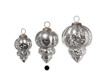 Amazon De Weihnachtshanger Baumschmuck In Silber Antik 2 Er Set