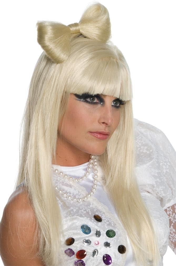 Lady Gaga hairslide with bow. (accesorio de disfraz): Amazon.es ...