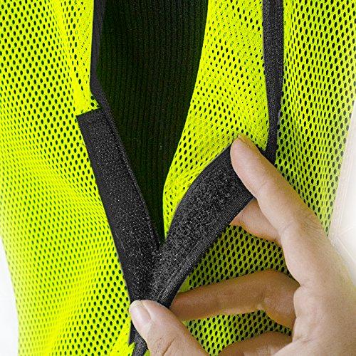 JORESTECH Emergency High visibility safety vest with reflective stripes (50 Vest, Yellow) by JORESTECH  (Image #5)
