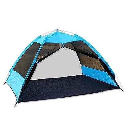 2 Personnes Tente,Tente Anti-moustiques Fils D'insectes Open De Vitesse Solaire Tente Camping Instant Automatique Pop-up Fibre Avec Sac Tentes Dôme