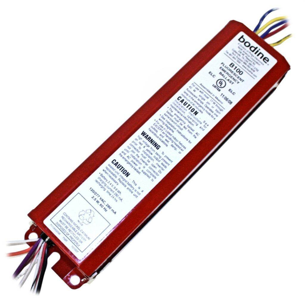 B100ELC BODINE EMERGENCY FLUORESCENT BALLAST T8 B100 on