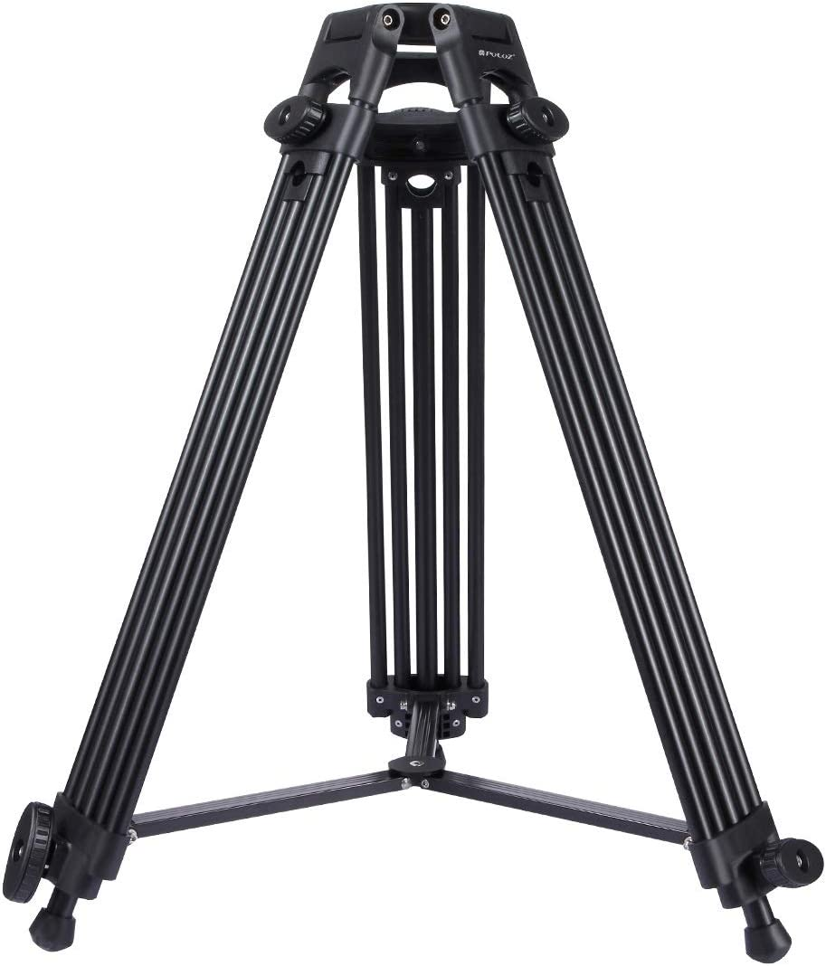 HUIFANGBU 3 in 1 Tripod + Bowl Adapter + Black Fluid Drag Head Adjustable Height: 62-152cm Color : Color2 Heavy Duty Video Camcorder Aluminum Alloy Tripod Mount Kit for DSLR//SLR Camera