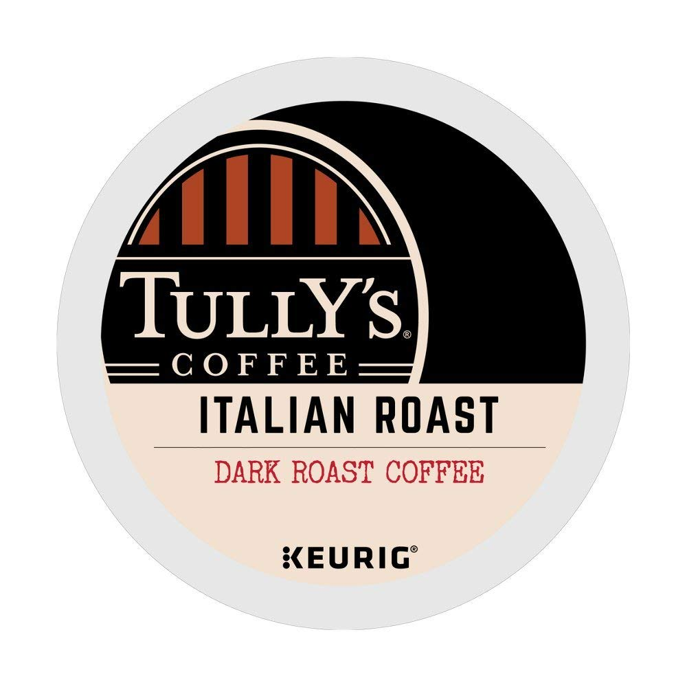 Tully's Italian Roast single serve K-Cup pods for Keurig brewers, 96 Count