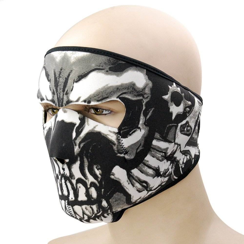 Amazon.com: Graphic Style Skull Assassin Black Neoprene Adjustable ...