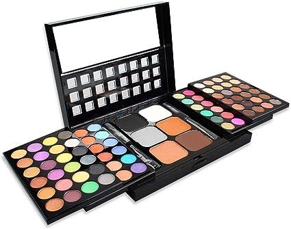 MWJK® Sombras de Ojos Kit, 78 colores paleta de sombra de ojos Profesional eyeshadow palette Paleta de Maquillaje Cosmética con Color Cálido y Frío Maquillaje Set Maquillaje Profesional Caja: Amazon.es: Belleza