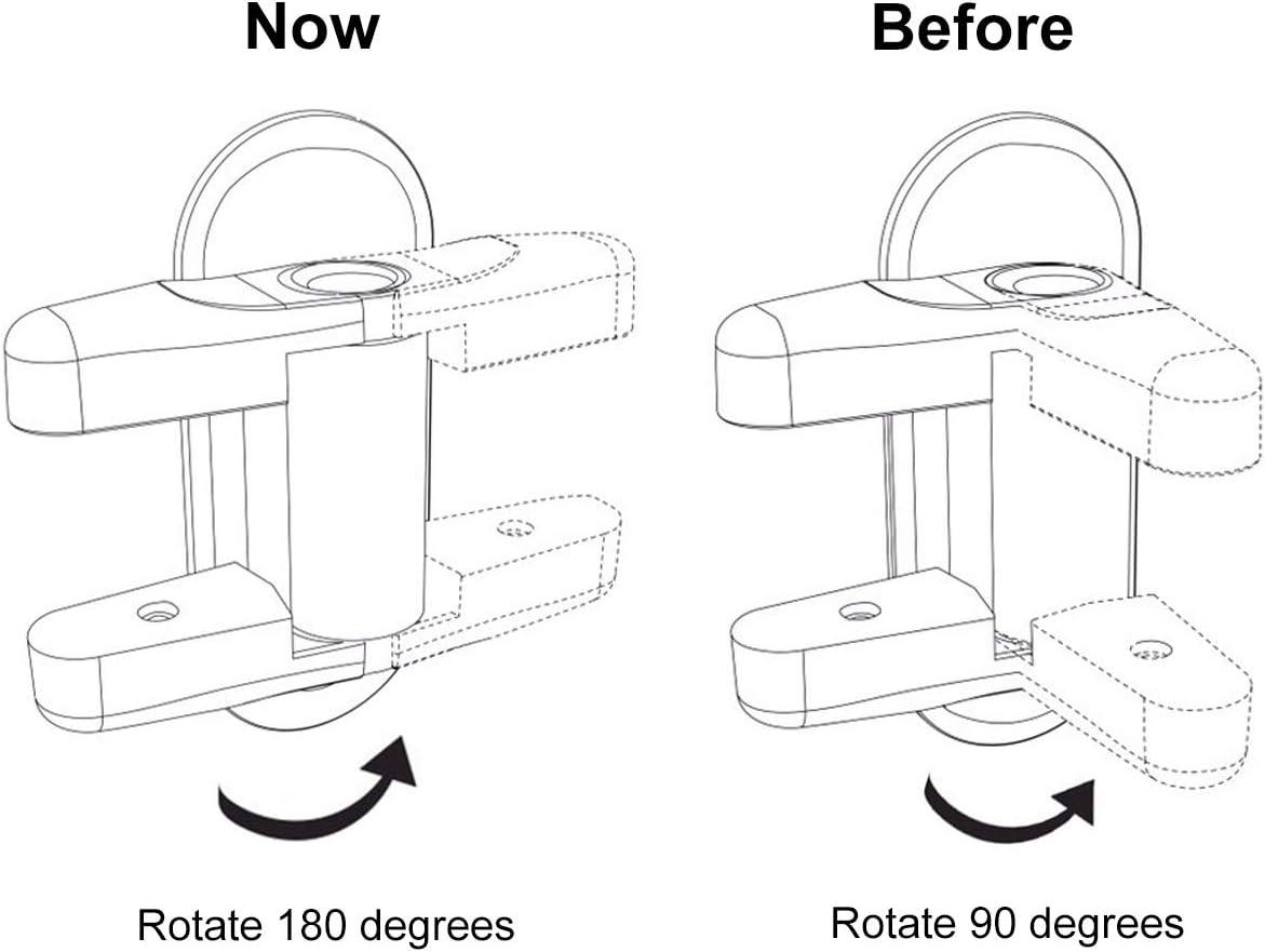 2 unidades Pomo de seguridad para puerta de beb/é adhesivo 3 m con cerraduras de seguridad para ni/ños blanco blanco