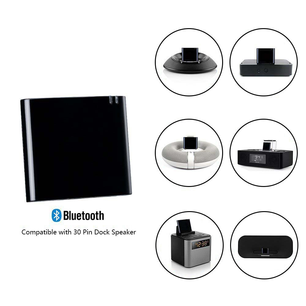 TM Bluetooth 4.1 A2DP Audio Music Receiver Bluetooth Adapter for Bose Sounddock and 30Pin iPhone iPod Dock Speaker, UniLink