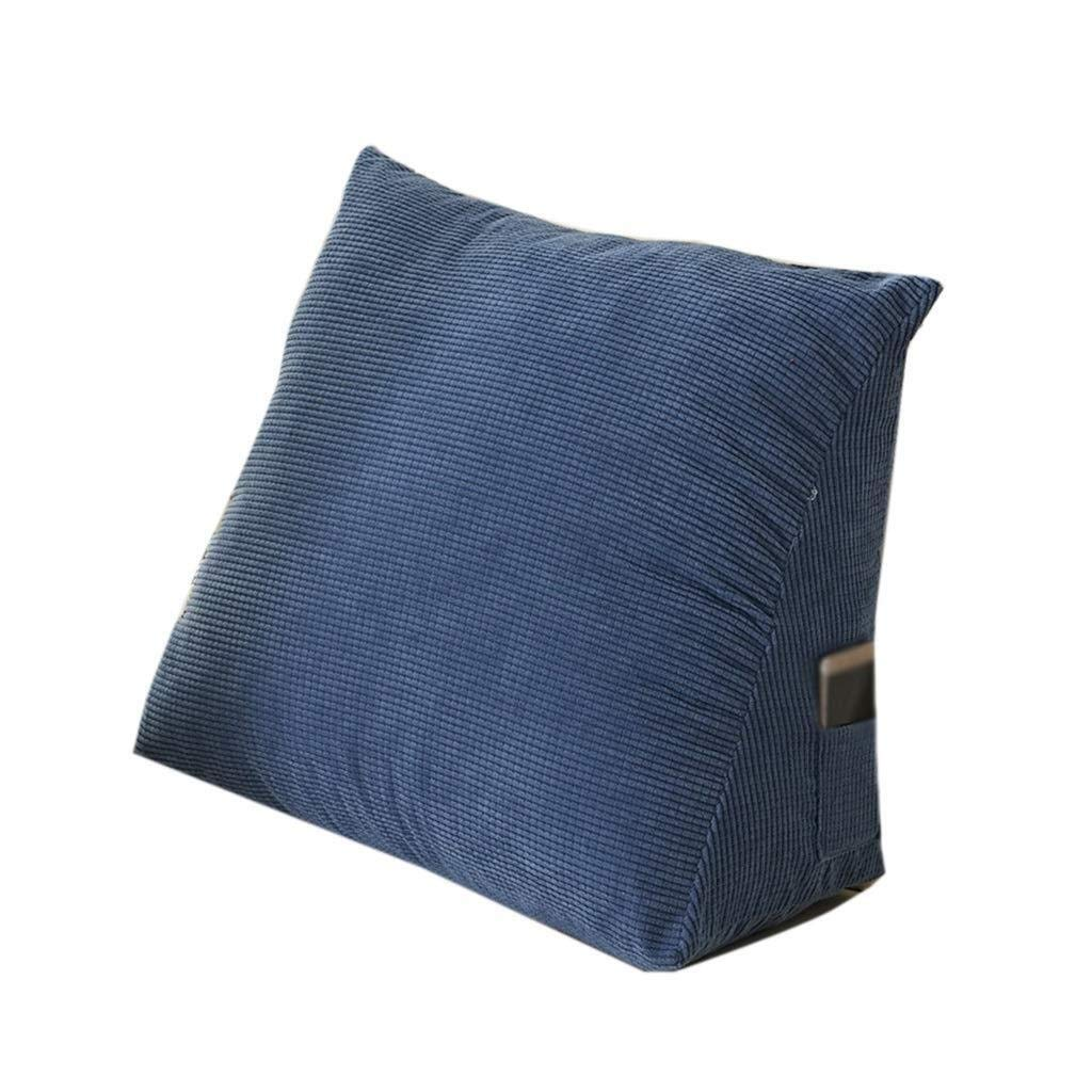 Triangular Wedge Bedside Back Cushion, Large Sofa Pillow Detachable Cotton Comfortable Soft Cushion Hote Club Pillow Solid Color (Color : B, Size : 403020CM)