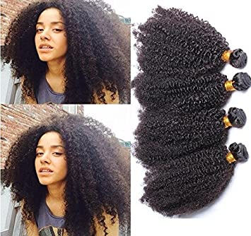Worldflying7A Mongolian Kinky Curly Hair Extensions 3 Pc 150 Gram Afro Virgin