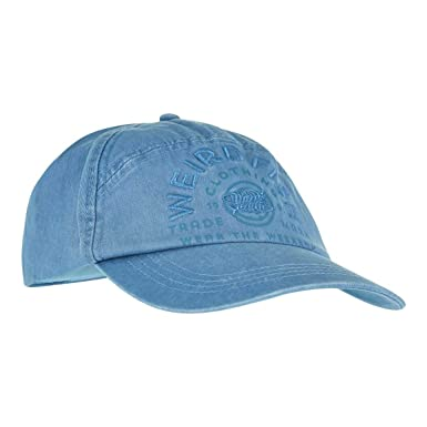 Weird Fish Brawn Embroidered Baseball Cap Washed Blue Size ONE  Amazon.co.uk   Clothing e5fd8621cddf