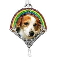 Pet Remembrance Rainbow Bridge Photo Ornament