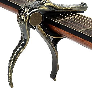 Sansund Cejilla de Guitarra con Pinzas de cocodrilo, Accesorios de ...