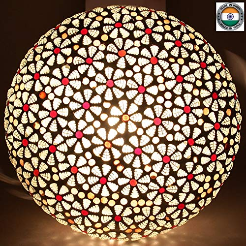 earthenmetal 568CLG 50W Ceiling Lamp (Red & White)