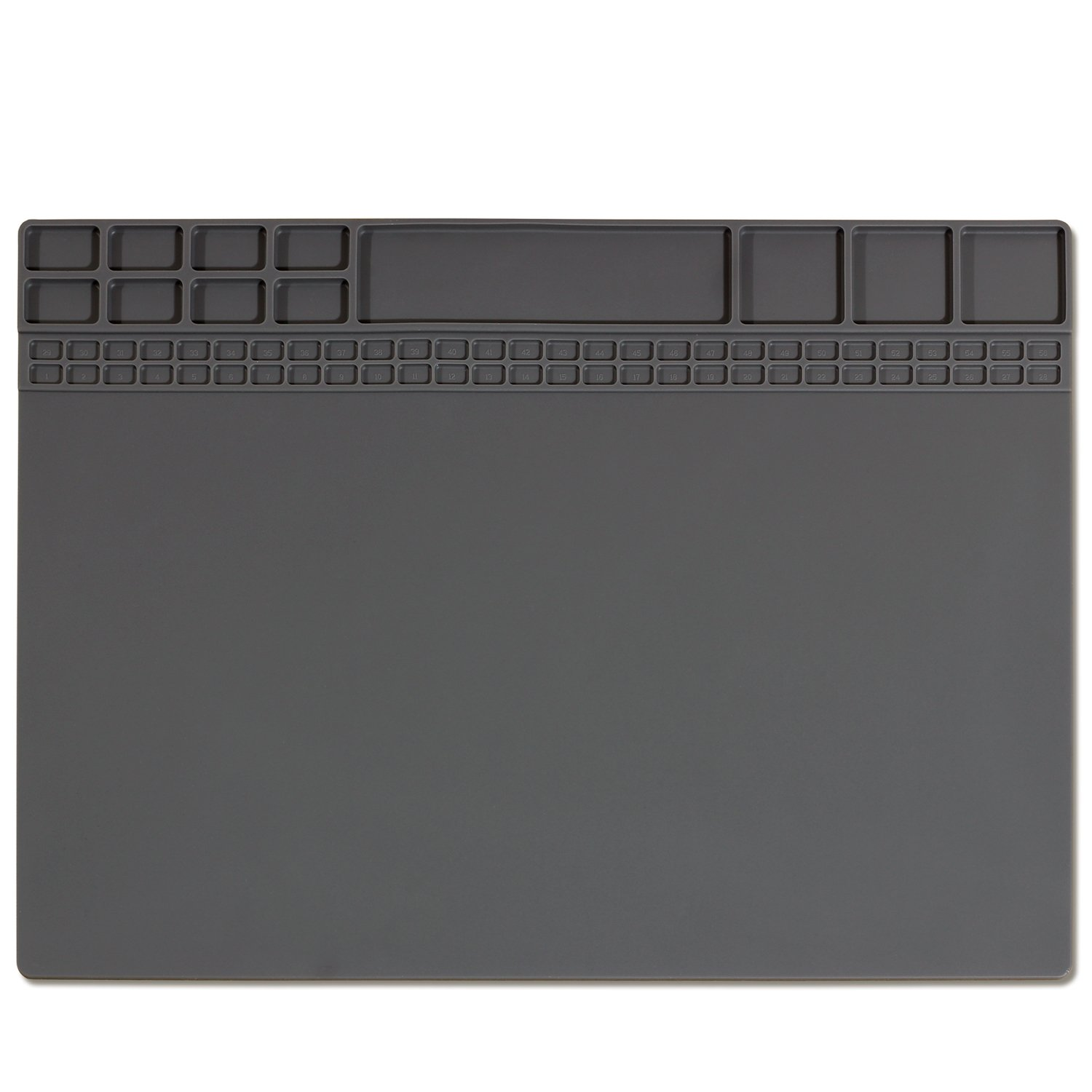Ceatech Silicone Large Soldering Mat Electronics Repair for Laptop iPhone Circuit Board Solder Mat Heat Resistant 932°F for Heat Gun Soldering Iron 15.9'' x 12'' (Grey)