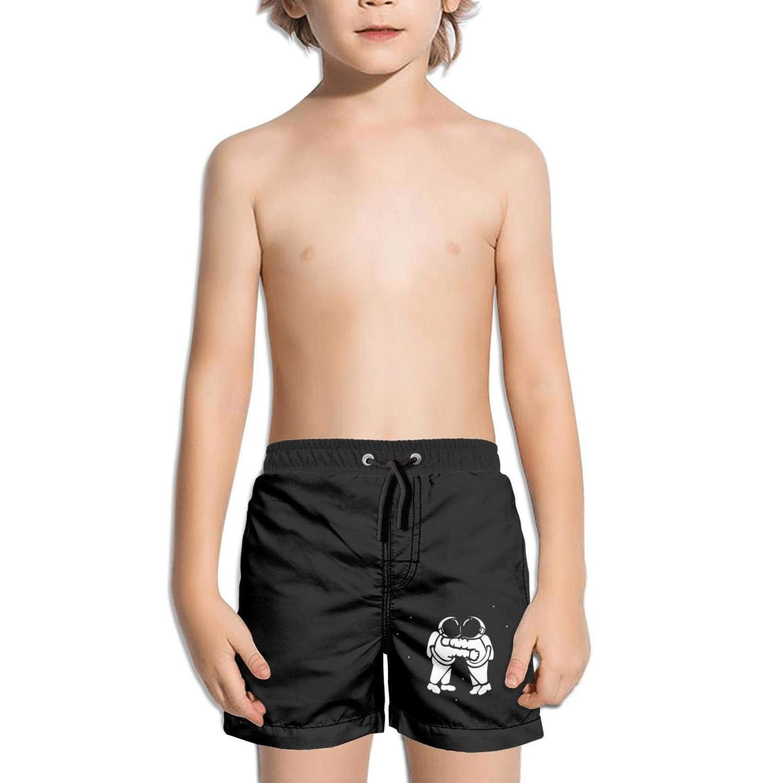 Trum Namii Boy's Quick Dry Swim Trunks Love Astronaut Spouse Shorts
