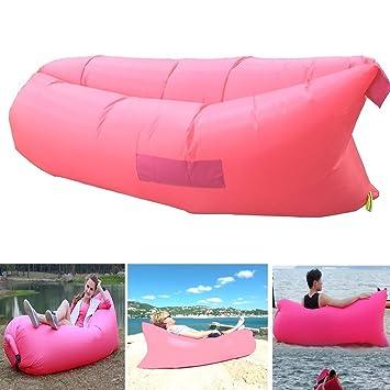 Ml exterior conveniente hinchable tumbona counch inflable portátil ...