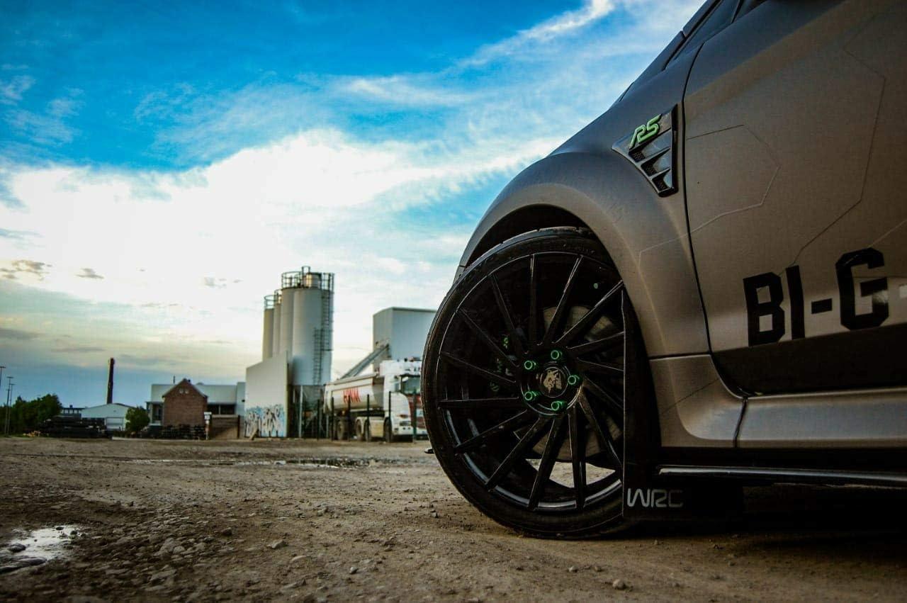 - Performanceblau Jaune N/éon Focus Rs MK2 3D Gelembleme Inlay avant Sidewings Libre Choix de Couleurs Arri/ère
