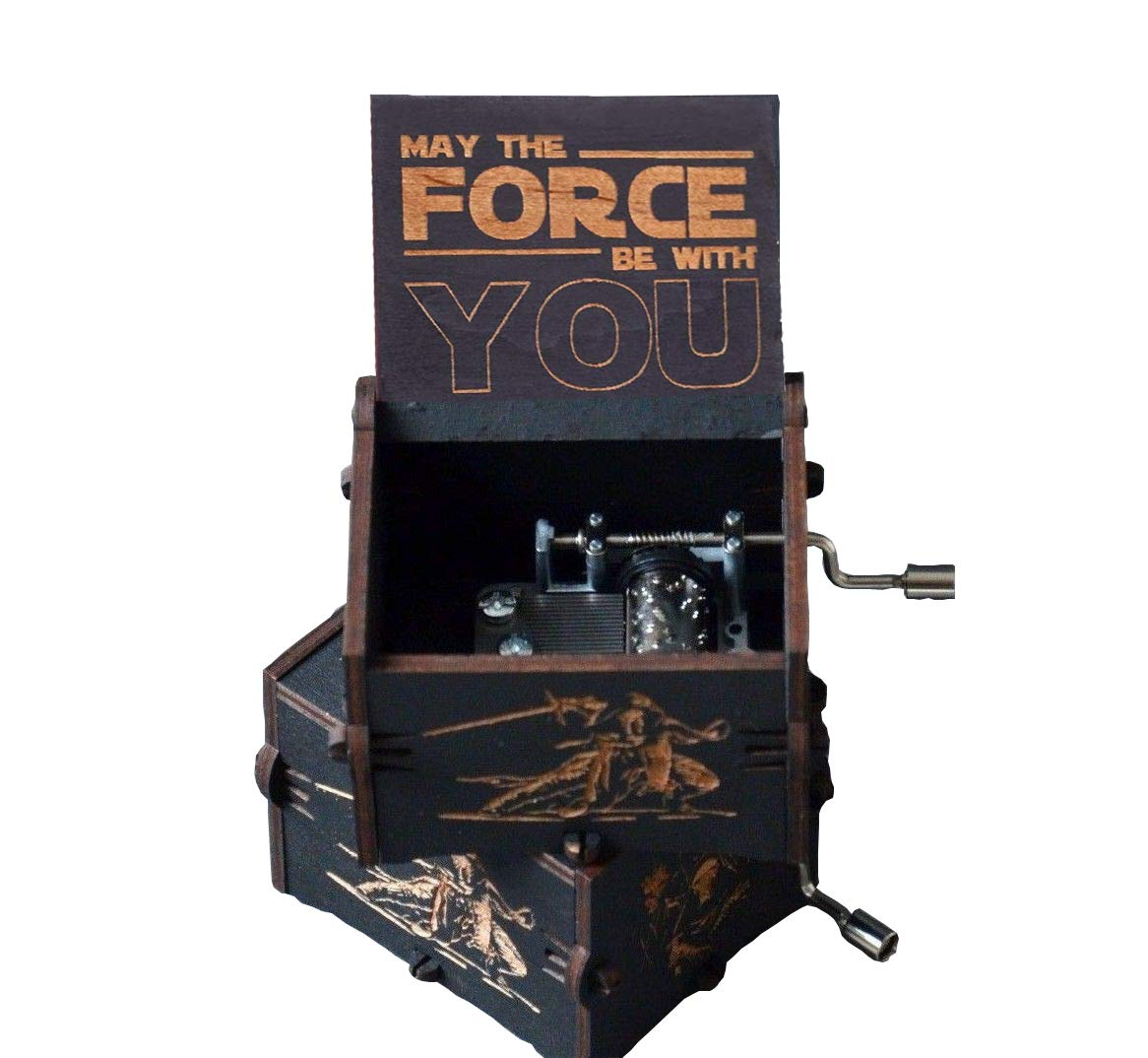carillon di legno della mano-scatola creativi di legno migliori regali su ma Carillon puro di mano-classica di Star Wars