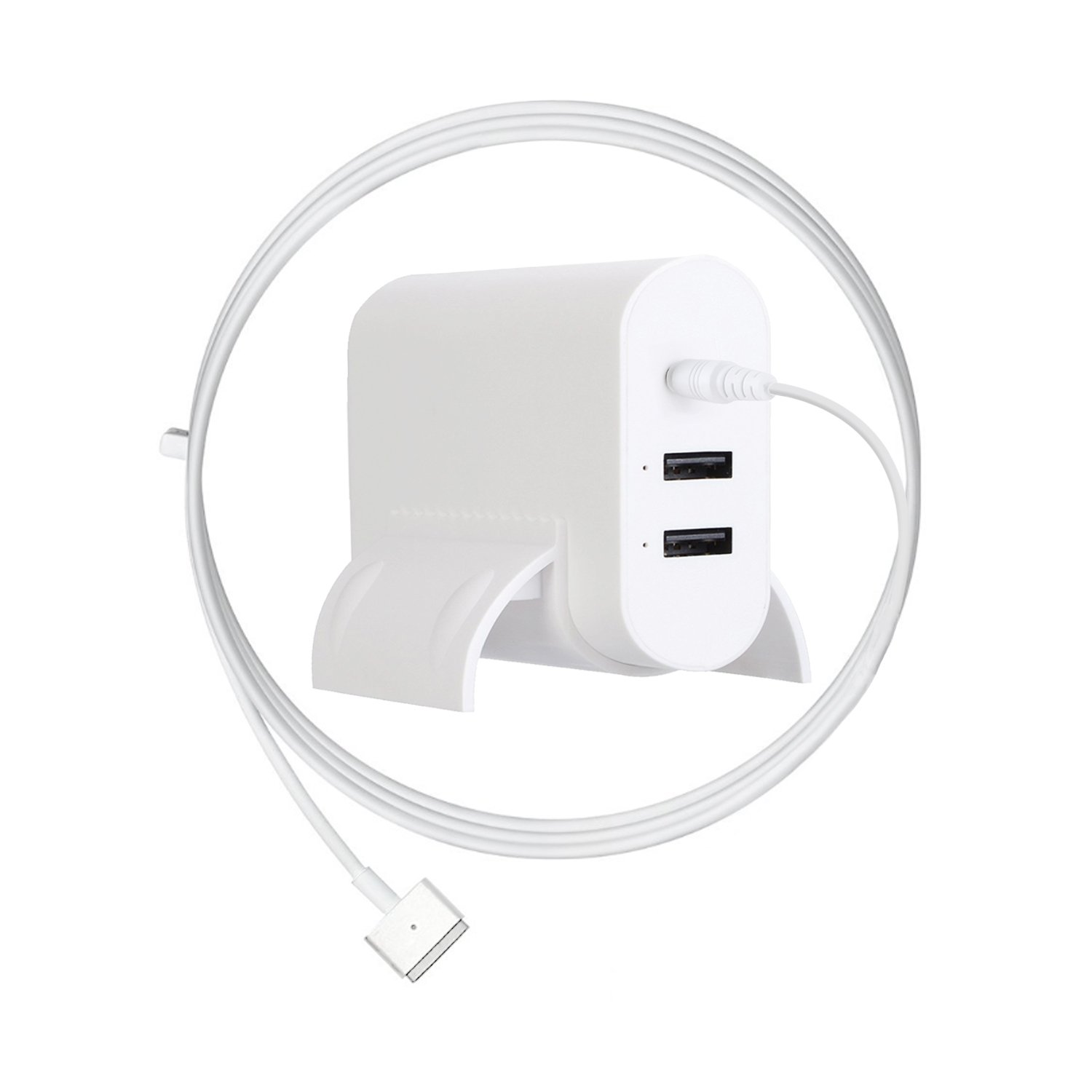 Ponkor 60W(Compatible with 45W Also) T-tip Magsafe 2 MacBook Pro Charger Replacement AC Power Adapter/Supply for Apple Mac Book Pro 13 inch(with 2-Port USB)