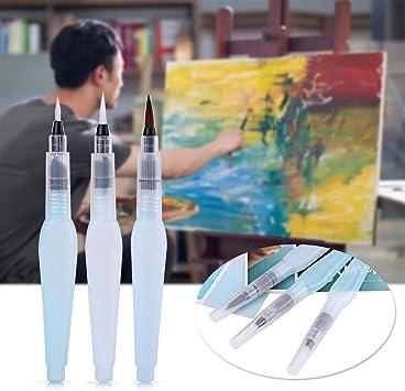 6pcs//Set Watercolor Brush Calligraphy Painting Refillable Ink Art Brush Pen New