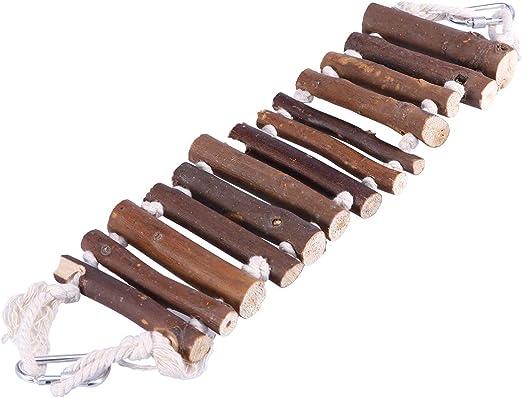 UEETEK Naturals Escalera de Cuerda Aves Juguete Puente Flexible Columpio Escalera para Entrenamiento Mascotas Loros: Amazon.es: Productos para mascotas