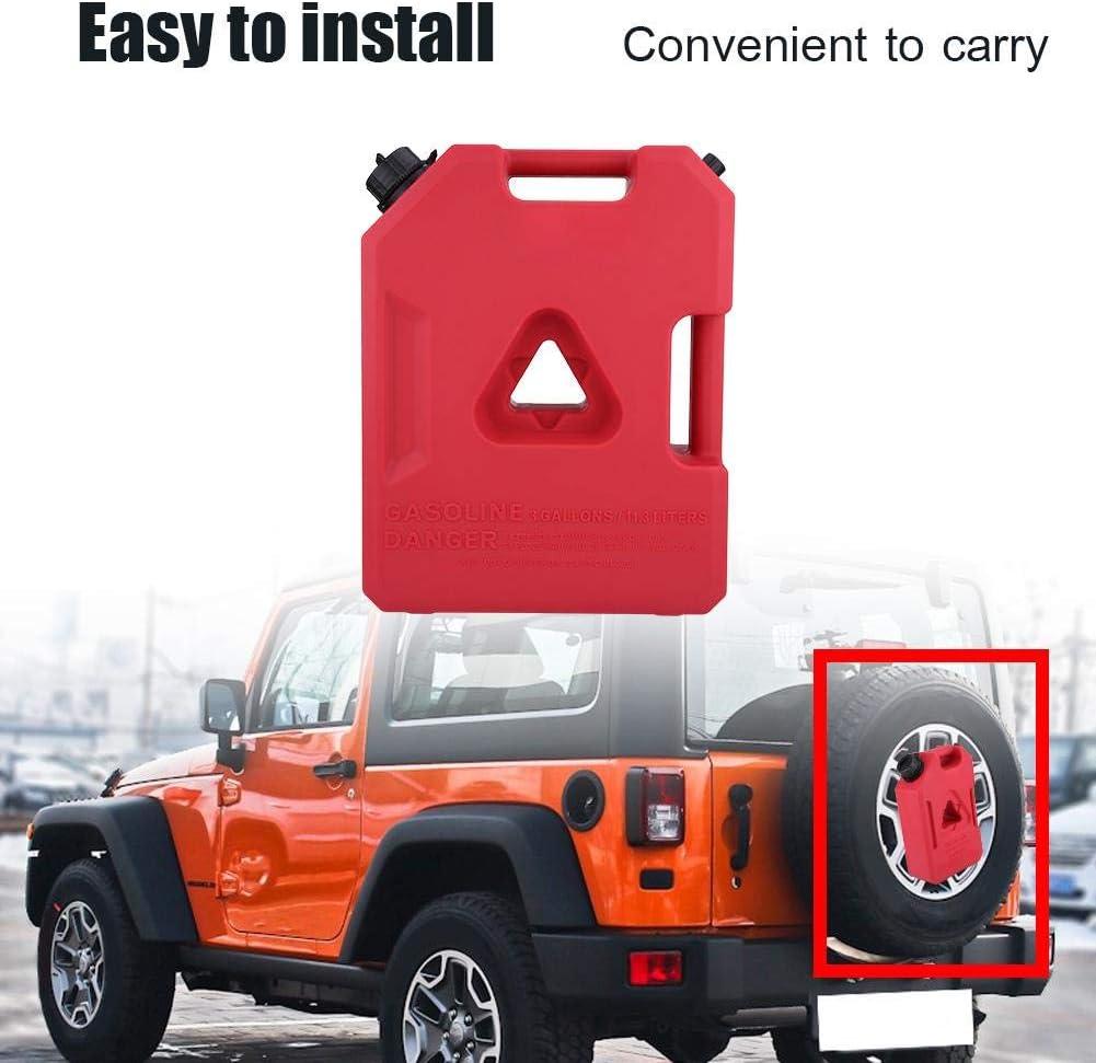 1Gallon Taniche carburante per auto,Ingegneria materie plastiche Antistatico Serbatoio benzina Gas benzina Contenitore