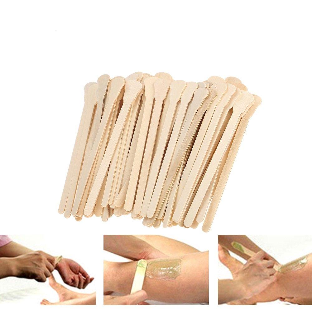 Large Wide Wood Wax Spatula Applicator Disposable Facial Mask Hair Remove Cream Tool 100pcs