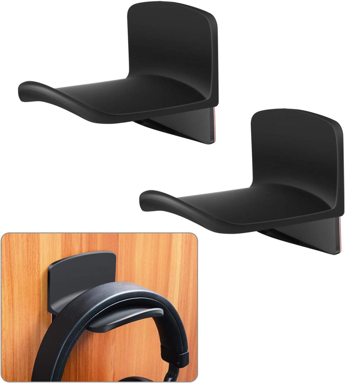 Amazon Com Ledot 2 Pack Adhesive Headphone Hanger Hooks For Wall Desk Table With Protective Silicone Pad Universal Gaming Headset Mount Holder Earphone Rack For Sennheiser Sony Bose Headphones