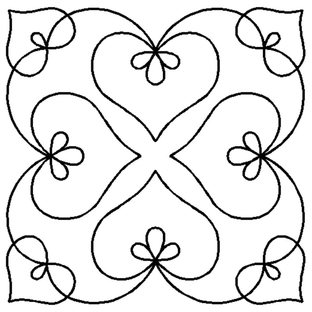 Quilting Creations Stencils for Machine and Hand Quilting Elegance Scroll Motif Background Set of 4 Quilt Plastic Stencils for Borders Butterfly Border Heart Block Medallion Patterns