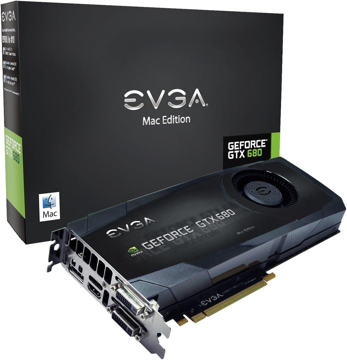 EVGA GeForce GTX680 2GB GDDR5 DisplayPort DVI-I, DVI-D HDMI Graphics Cardfor Mac 02G-P4-3682-KR