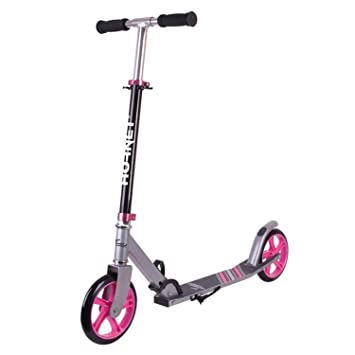 City Scooter Hornet ALU/Acero 8 200 Negro/Rosa 2: Amazon.es ...
