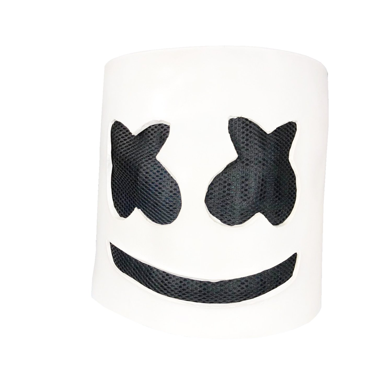 waylike Music Marshmello DJ Mask Party Props Full Head Mask Halloween Cosplay Mask