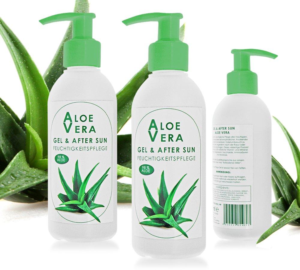 Aloe Vera Cuidado Gel & After Sun, 200 ml Pump Botella: Amazon.es: Belleza