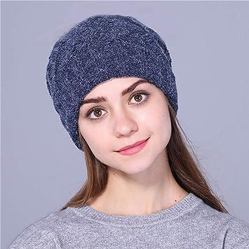 632134dc066 ZKADMZ  Double Couche Garder Le Chapeau d hiver Chaud pour Les Femmes  Chapeau Pas
