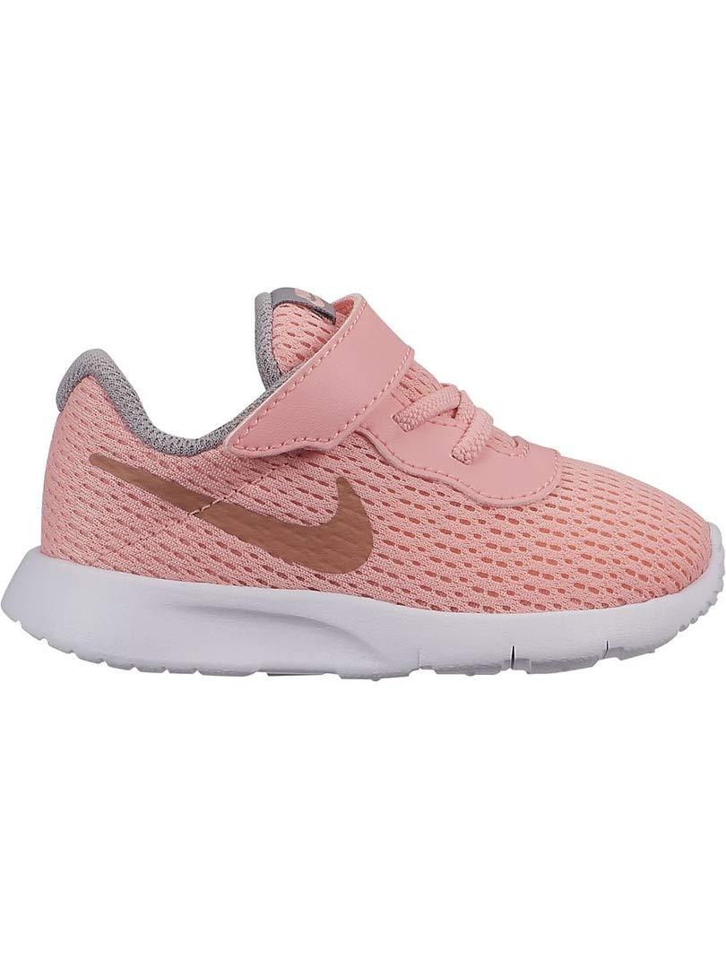 Nike Girl's Tanjun (TD) Toddler Shoe Pink Tint/Metallic Rose Gold/Atmosphere Grey Size 8 M US by Nike (Image #1)