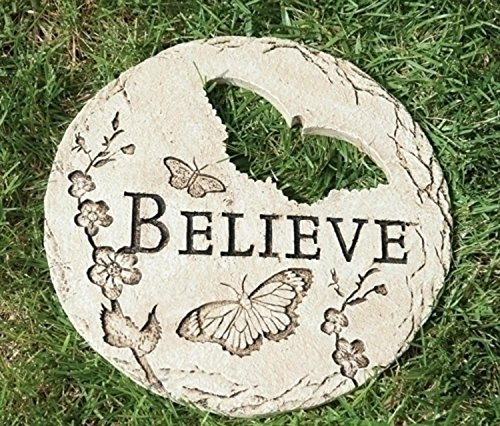 "12"" Butterfly Cut-Out ""Believe"" Decorative Garden Patio ... Stepping Stones Online"
