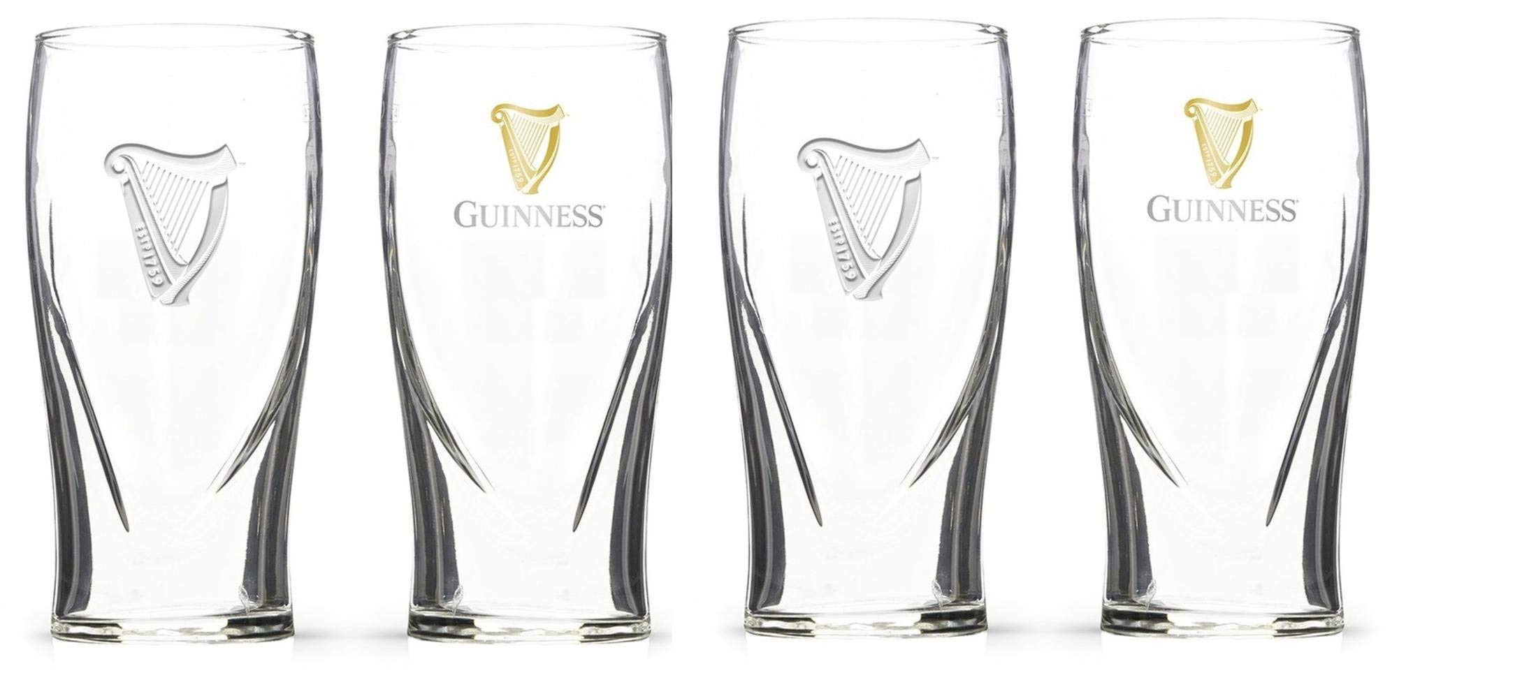 Guinness Irish Pint Beer Glasses 16 Ounce Set of 4