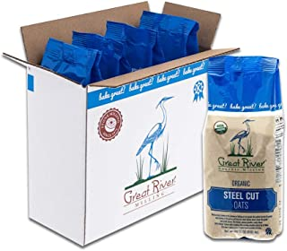 product image for Great River Organic Milling, Oatmeal, Steel Cut Oats, Organic, 22 Ounces (Pack of 4)