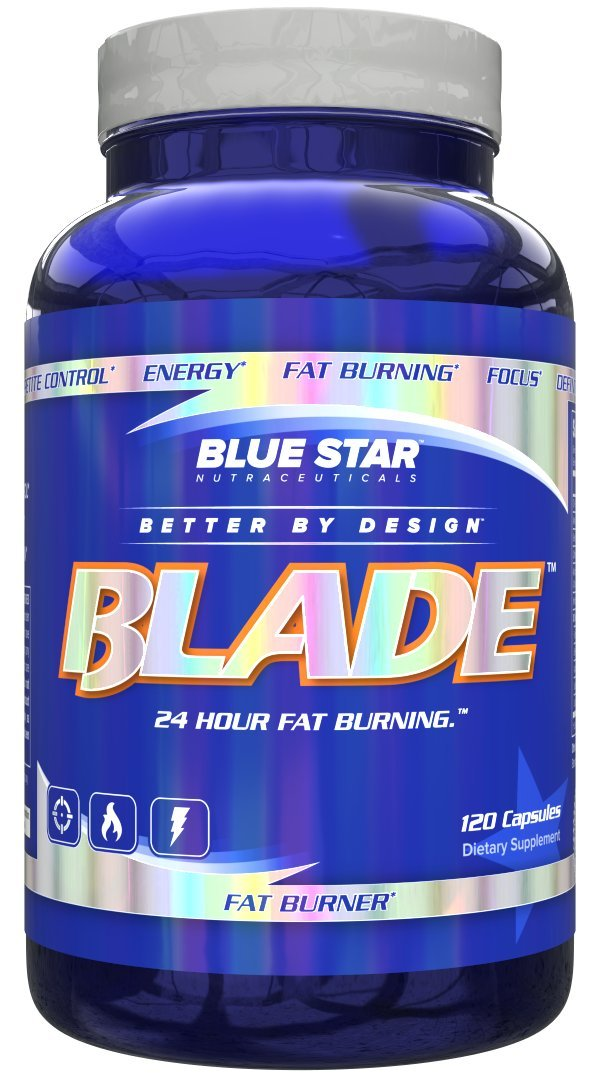 Blue Star Nutraceuticals Blade: Pharmaceutical Grade Weight Loss Pills / Thermogenic Fat Burner Supplement with Metabolism Boosting Capsaicinoids and Energy Enhancing Caffeine / ALCAR, 120 Capsules