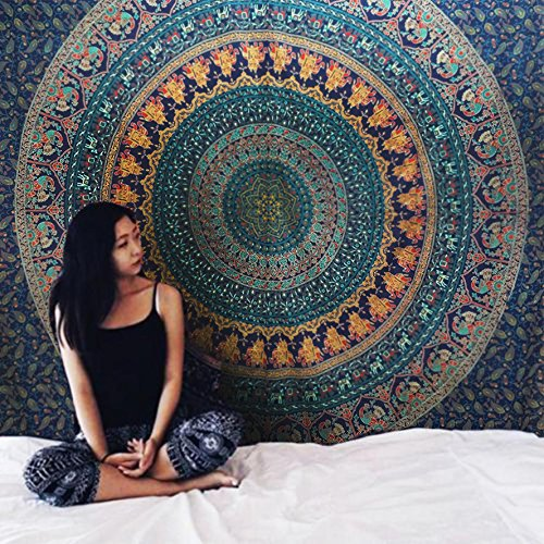 Wall Hanging Cotton Tapestry Bohemian Bed Spread Table Top
