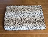 ZippyPaws Safari Foam Pad – Luxurious Crate Beds for Dogs or Cats (Leopard, XL 48×30″), My Pet Supplies