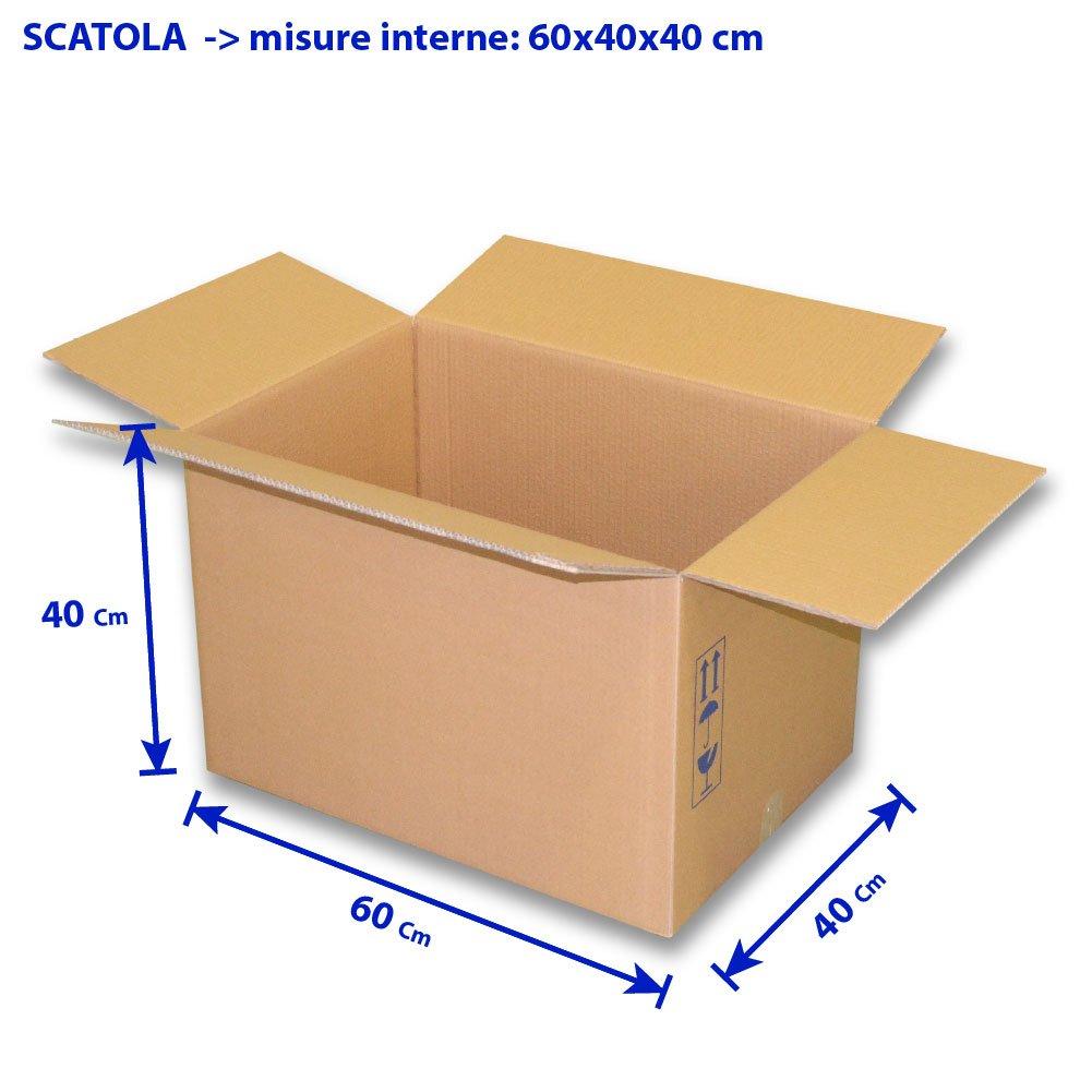 5 PZ. - SCATOLA IMBALLAGGIO 60X40X40 CM. CLS LA