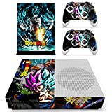 xbox remote skins - Vanknight Xbox One S Slim (XB1 S) Console 2 Controllers Remote Skin Set Vinyl Skin Decals Stickers Covers Wrap for XB1 S Goku
