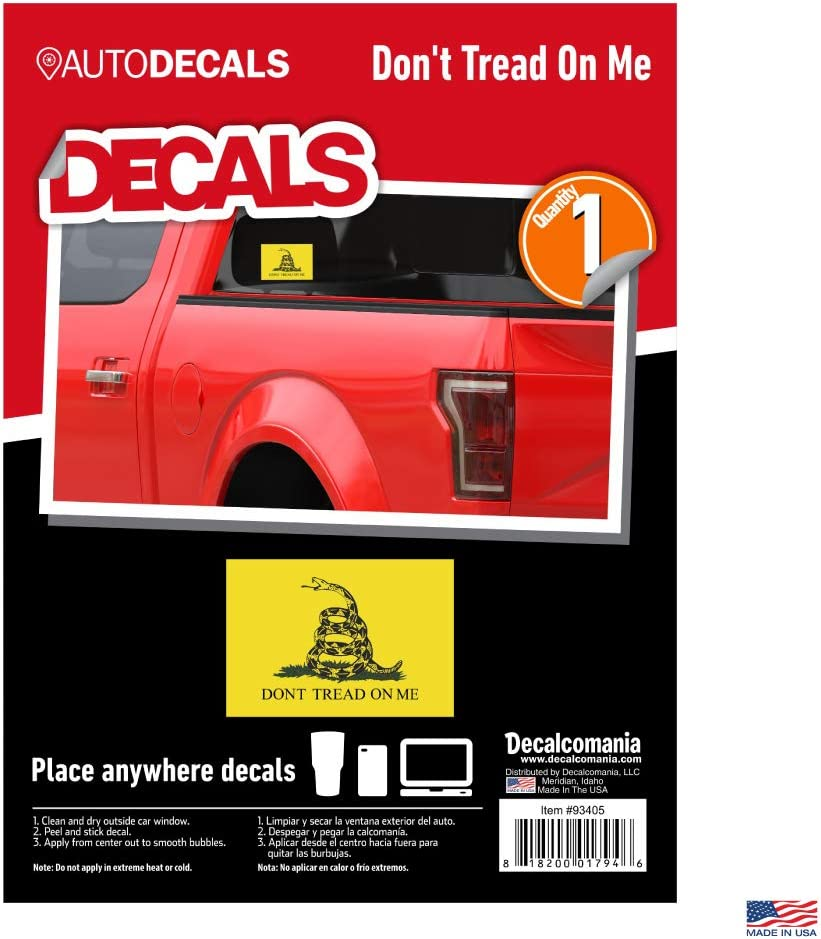 Gadsden USA Flag Don/'t Tread On Me  Rear Window Graphic Decal  Truck Van Car