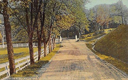 (Bedford Springs Pennsylvania Arondale Hotel Entrance Antique Postcard K79226)
